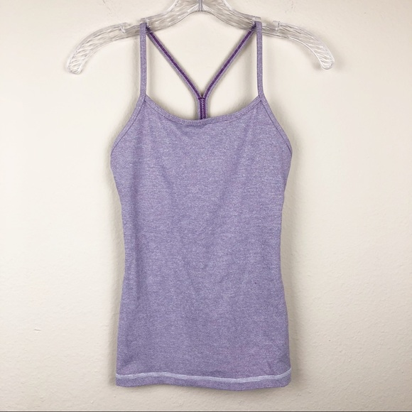 f838f9a866c6b lululemon athletica Tops - Lululemon Power Y Tank Top Purple Luon 2